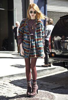 Julia Frakes in Pendleton x OC | Street Fashion | Street Peeper | Global Street Fashion and Street Style