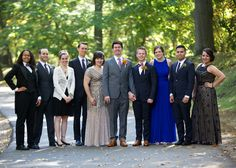 Chris & Jeff and their bridal party along Jamaica Way, Brookline.
