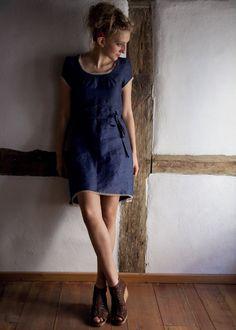 Linen dress Maria 100 linon organic cotton lace by Kleiderlust