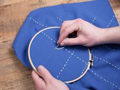 Tutoriales DIY: Cómo bordar Sashiko japonés vía DaWanda.com