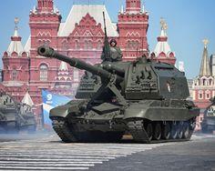 Скачать обои гаубица, Парад Победы, артиллерийская, Россия, Красная Площадь, САУ, Самоходная, 152-мм, Мста-С, установка, 9 мая, парад, раздел оружие в разрешении 1152x922