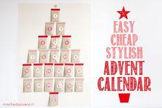 Cheap easy stylish Advent Calendar DIY