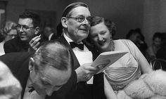 TS Eliot and his second wife Valerie at the theatre in Chicago, 1959. Photograph: Myron Davis/Time & Life Pictures