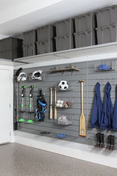 Sports Equipment & Overhead | Storage + Organization | GarageGuru Slat Wall More