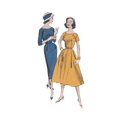 1950s Fit and Flared Dress or Wiggle Dress Sewing by Redcurlzs