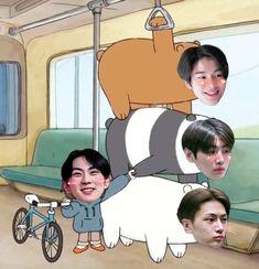 Meme Faces, Funny Faces, K Pop, Nct, Jake Sim, Memes, Jungkook Abs, Cartoon Jokes, We Bare Bears