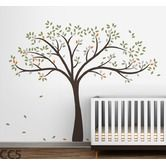 Found it at AllModern - Fall Tree Wall Decal - I like it in white/l.green/ol.green/blue