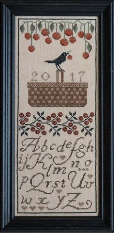 LADDA Cherry Picker Cross Stitch Pattern by NeedleCaseGoodies