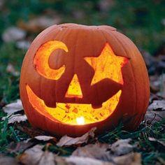 Moon and stars pumpkin