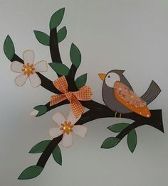 Diy And Crafts, Paper Crafts, Tole Painting, Techno, Plant Leaves, Dinosaur Stuffed Animal, Bird, Animals, Orange