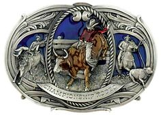 """Awesome smaller buckle for youth rodeo enthusiasts. Ropers and riders, great colors too. Small: Measures 3"""" x 2"""" Large: Measures 5 1/2"""" x 3 3/4"""""""
