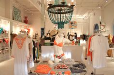 Blue art at Ophelia Swimwear in Seacrest Florida