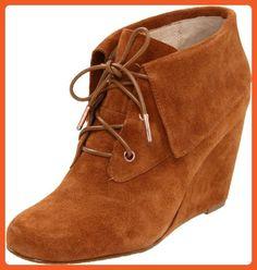 Michael Michael Kors Women's Jada Wedge Boot,Luggage,10 M US - Boots for women (*Amazon Partner-Link)