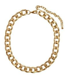 Chunky gold chain necklace for dark green prom dresses #prom #jewelry #gold #stpatricksday