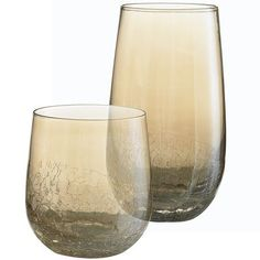 Get into the season! Pier 1 | Amber Crackle Tumblers