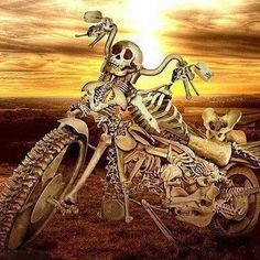 Skeleton Motorcycle, chopper