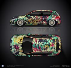 Design concept #4 the graffiti style VW Golf GTI f