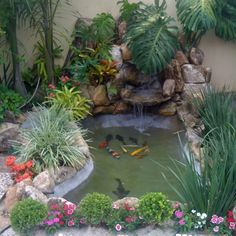 Diy first pond – Artofit Small Backyard Ponds, Small Yard Landscaping, Backyard Water Feature, Small Water Gardens, Fish Pond Gardens, Indoor Waterfall, Garden Waterfall, Garden Pond Design, Garden Water Fountains