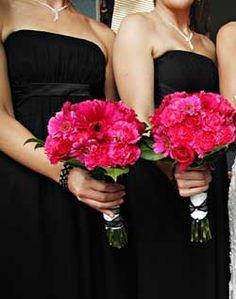 Love The Black Pink Great Bridesmaid Dress Idea Future Wedding Ideas Pinterest
