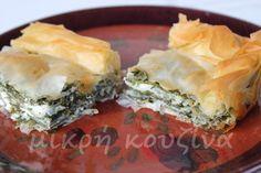 Σπανακόπιτα από τη Θεσσαλία Recipe Boards, Spanakopita, Ethnic Recipes, Food, Essen, Meals, Yemek, Eten