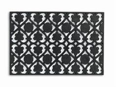 Tag 200689 Filagree Black Molded Rubber Welcome Mat by TAG Trade Associates Group. $34.65. Weather resistant. Easy to clean. Durable materials. Wide variety of designs to highlight a variety of decor. Made from a mixture of recycled rubber, fillers and virgin rubber. Tag molded rubber doormats are made from a mixture of recycled rubber, fillers and virgin rubber. They are generously sized and make a statement at your door - graciously welcoming guests to your home. These mats...