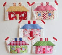 Little houses by Pam Kitty Morning