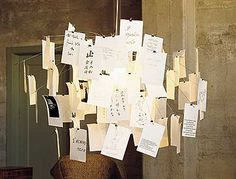 Object of my desire : Ingo Maurer Zettel  - message mobile/ chandelier.