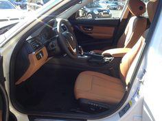 '13 BMW 3 Series (LUXURY line): Mineral White Metallic exterior, Saddle Brown Dakota Leather Interior #BMWTOWSON #26507