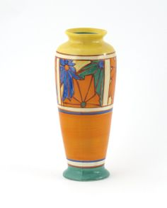 'Umbrellas' a Clarice Cliff Fantasque Bizarre vase