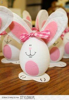 DIY Ostern, Easter, Wielkanoc. Ostereier, pisanki, easter eggs. Dekoration, decoration, dekoracja. Hasen, Häschen.