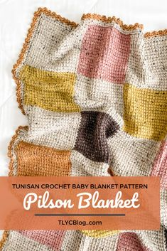 TL Yarn Crafts - The Pilson Blanket, a modern patchwork crochet baby blanket | TL Yarn Crafts