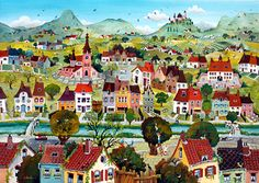 Life is Beautiful by Marie-Louise Batardy - GINA Gallery of International Naive Art