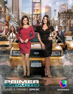 Univision ladies of Primer Impacto. Pamela Silva Conde, Jackie Guerrido, Barbara Bermudo