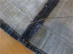 Hemming Distressed Jeans | Cathe Holden's Inspired Barn