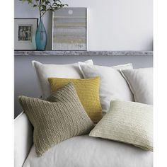 "Linen Knit Gold 18"" Pillow in Best Accessories 