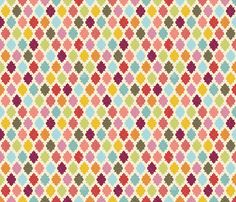 Moroccan Quatrefoil - Garden Hues fabric by creativetaylor on Spoonflower - custom fabric