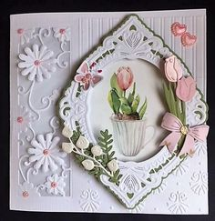Girl Birthday, Birthday Cards, Die Cut Cards, Marianne Design, Big Shot, Cute Cards, Handmade Cards, Card Ideas, Card Making