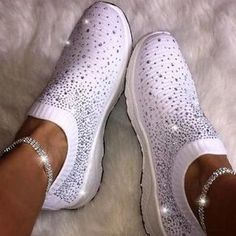 Women Sneakers Fashion Socks Shoes Casual White Sneakers RhinestoneSummer knitted Women Trainers Tenis Feminino Discover this range of women's shoe styles. Regardless of your style, your next favorite pair of shoes is here Casual Loafers, Casual Sneakers, Casual Shoes, Ladies Sneakers, Ladies Shoes, Shoes Style, Shoes Women, Girls Shoes, Cute Sneakers For Women