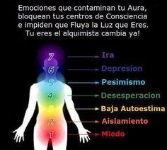 Aura y emociones. Emociones negativas que contaminan los Chakras http://www.reikiadistancia.org