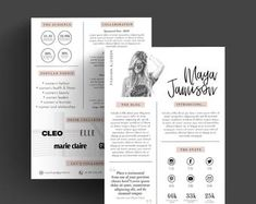Media Kit Template Rate Sheet for Bloggers Price list | Etsy Media Kit Template, Kit Diy, Change Image, Branding Kit, Price List, Letter Size, Marketing Materials, Printed Materials, Business Names