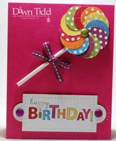 Lollipop birthday card--so cute!