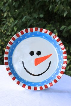 Snowman Pie Plate by forpetessakepottery on Etsy, $38.00