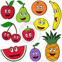 Collection of ten funny cartoon fruits (apple pear orange banana cherries s Preschool Books, Preschool Activities, Fruit Clipart, Fruit Picture, Fruits Images, Apple Pear, Cartoon Pics, Cartoon Humor, Cartoon Books