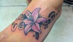 flower tattoos foot tattoos Tatoo Pinterest foot tattoos | Tattoo ...