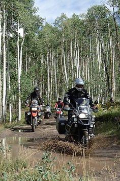 Adventure riding. BMW GS