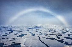 White rainbow, on the South Pole.