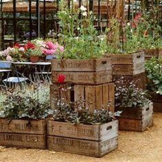 Oczywiście ogród - skrzynki wyglądają w nim szczególnie uroczo.