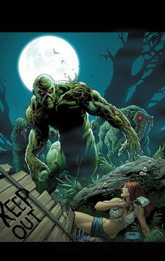 Swamp Thing and Man-Thing by Frank Cho by giantsizegeek, via Flickr