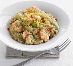Stirring can be strangely soothing, as you'll find when preparing this summery seafood risotto