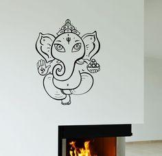 Ganesha Wall Vinyl Sticker Decor Decal God Hindu India Elephant (ig3088)